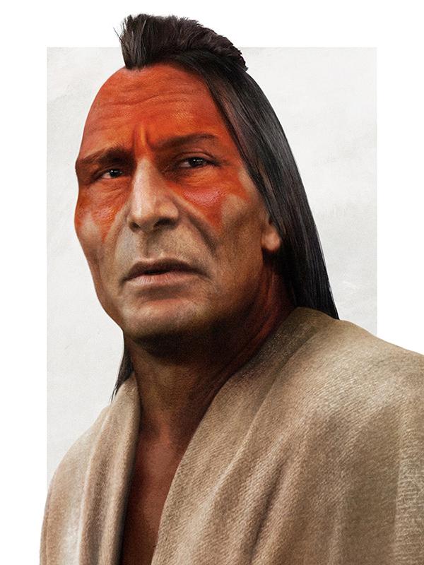 Chief Powhatan Realistic Disney Characters Art [Source: JIRKA VINSE JONATAN VÄÄTÄINEN]
