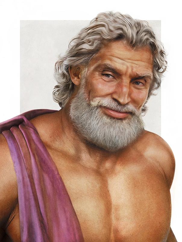 Zeus Realistic Disney Characters Art [Source: JIRKA VINSE JONATAN VÄÄTÄINEN]
